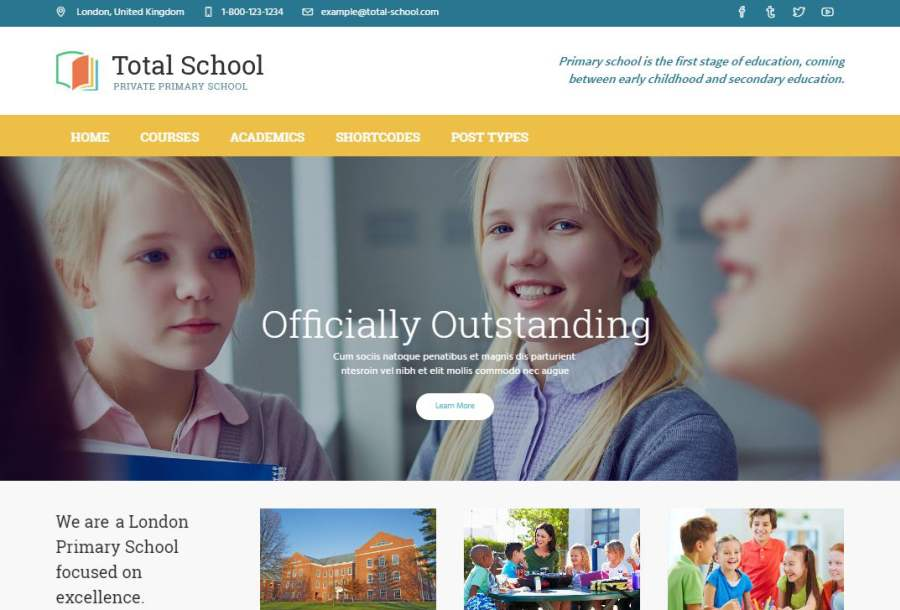 primary school website design from Live Schools