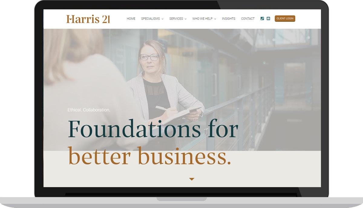 Accountants Web Design example
